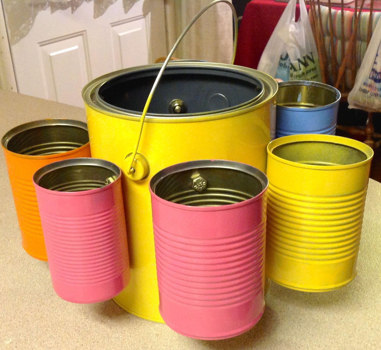Tin Can Organizer !