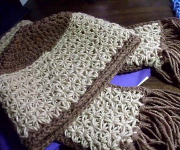 Star Gather Crocheted Scarf