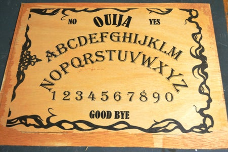 Making the Ouija Board - Cutting and Staining