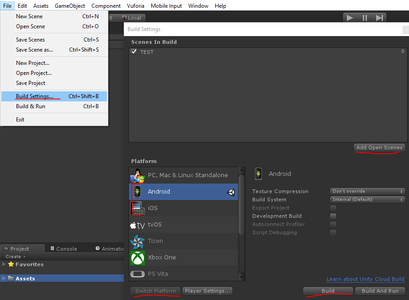 Working at Unity: Initial Configuration