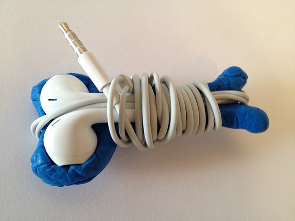 Spur of the Moment Sugru Earbud Holder