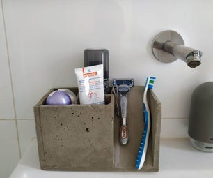 DIY Concrete Toothbrush (and Friends) Holder