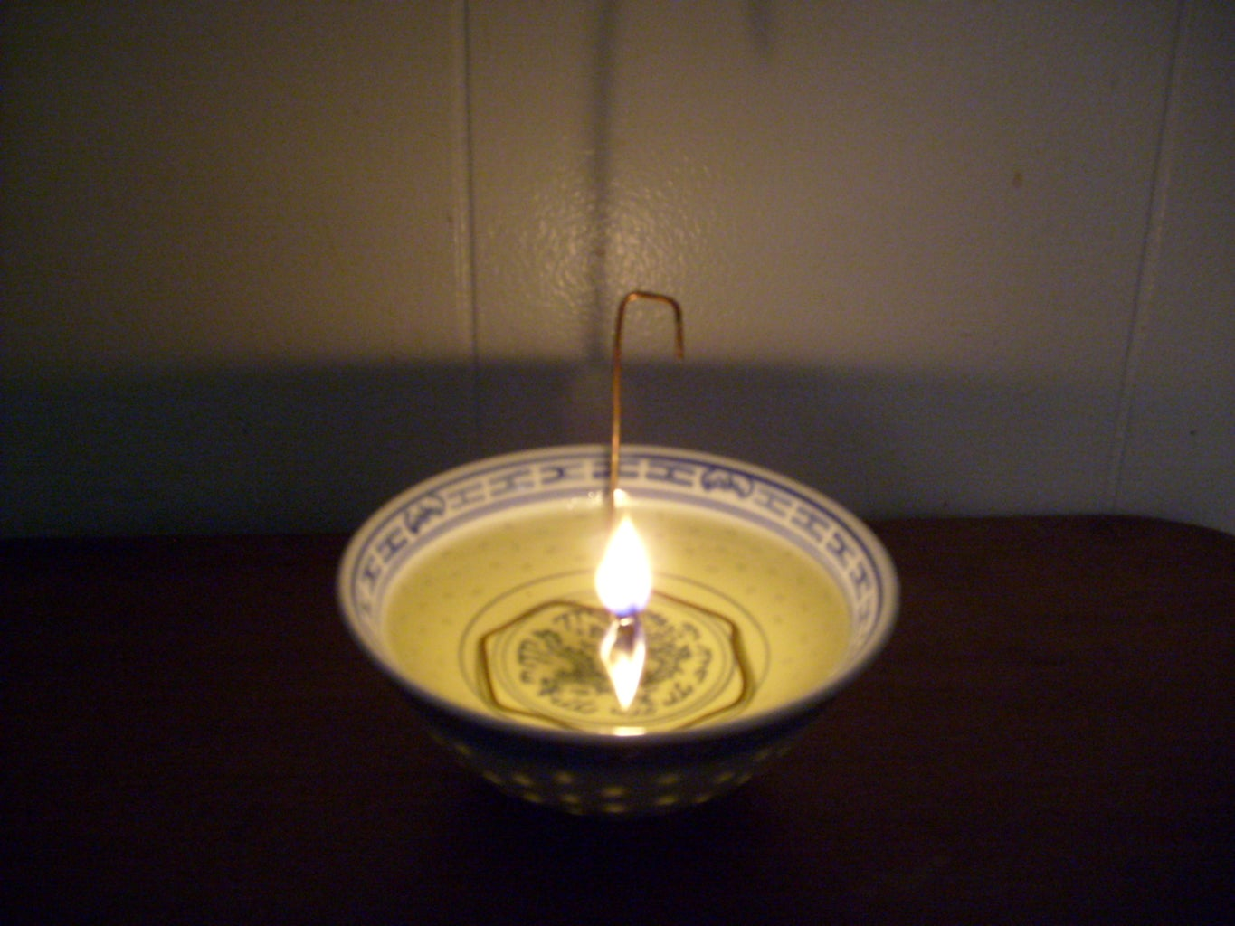 Oil Lamp With Three Matches