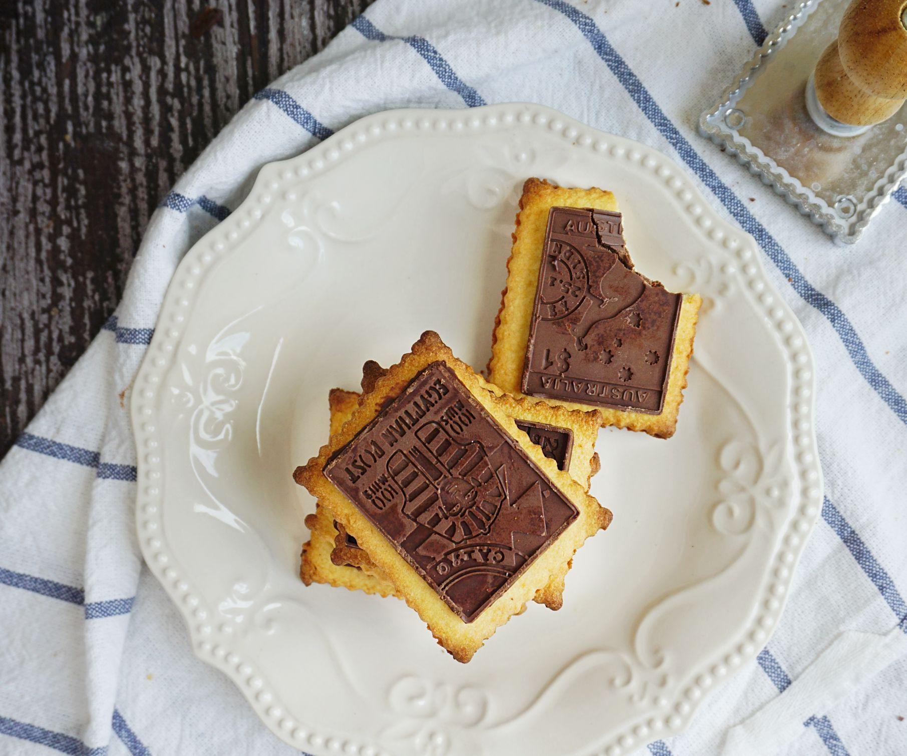 Orange Chocolate Petit Beurre Cookies