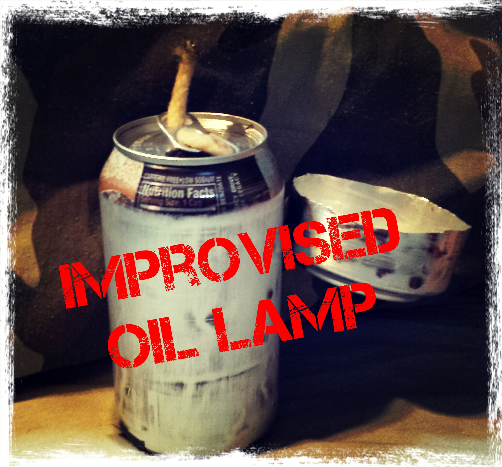 how to build an improvised oil lamp.