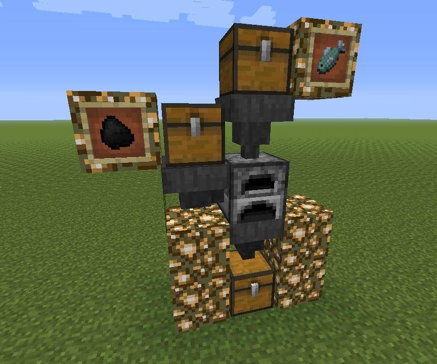 Minecraft automatic smelter
