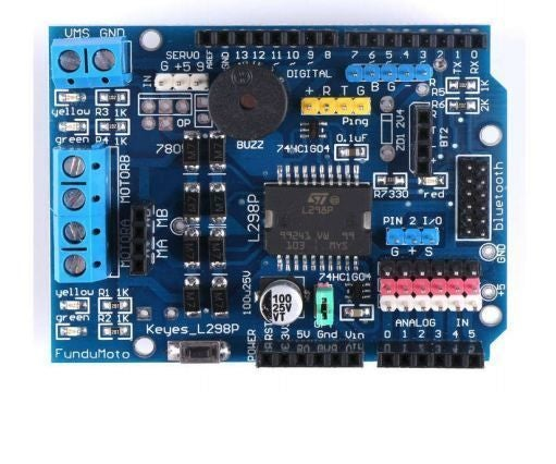 Tutorial for L298 2Amp Motor Driver Shield for Arduino