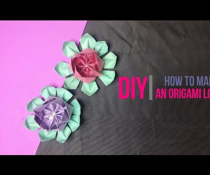 How to make an Origami Lotus [DIY] by Brain Washer
