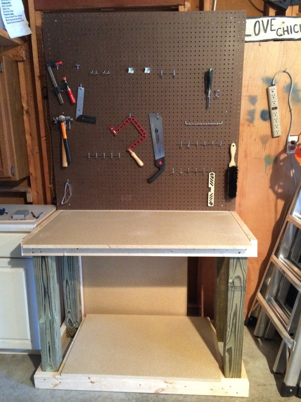 Simple, Sturdy, Wooden Workbench for Around $70