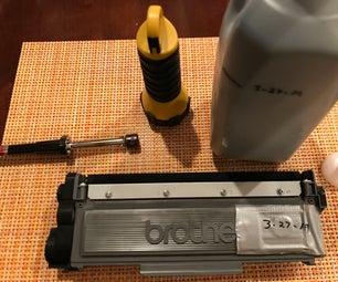 用简单的方法补充激光打印机硒鼓
