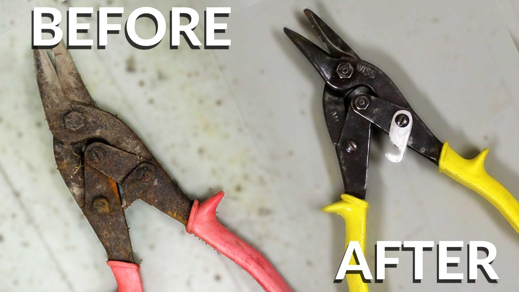 Restoring Rusty Dumpster Dove Tin Snips