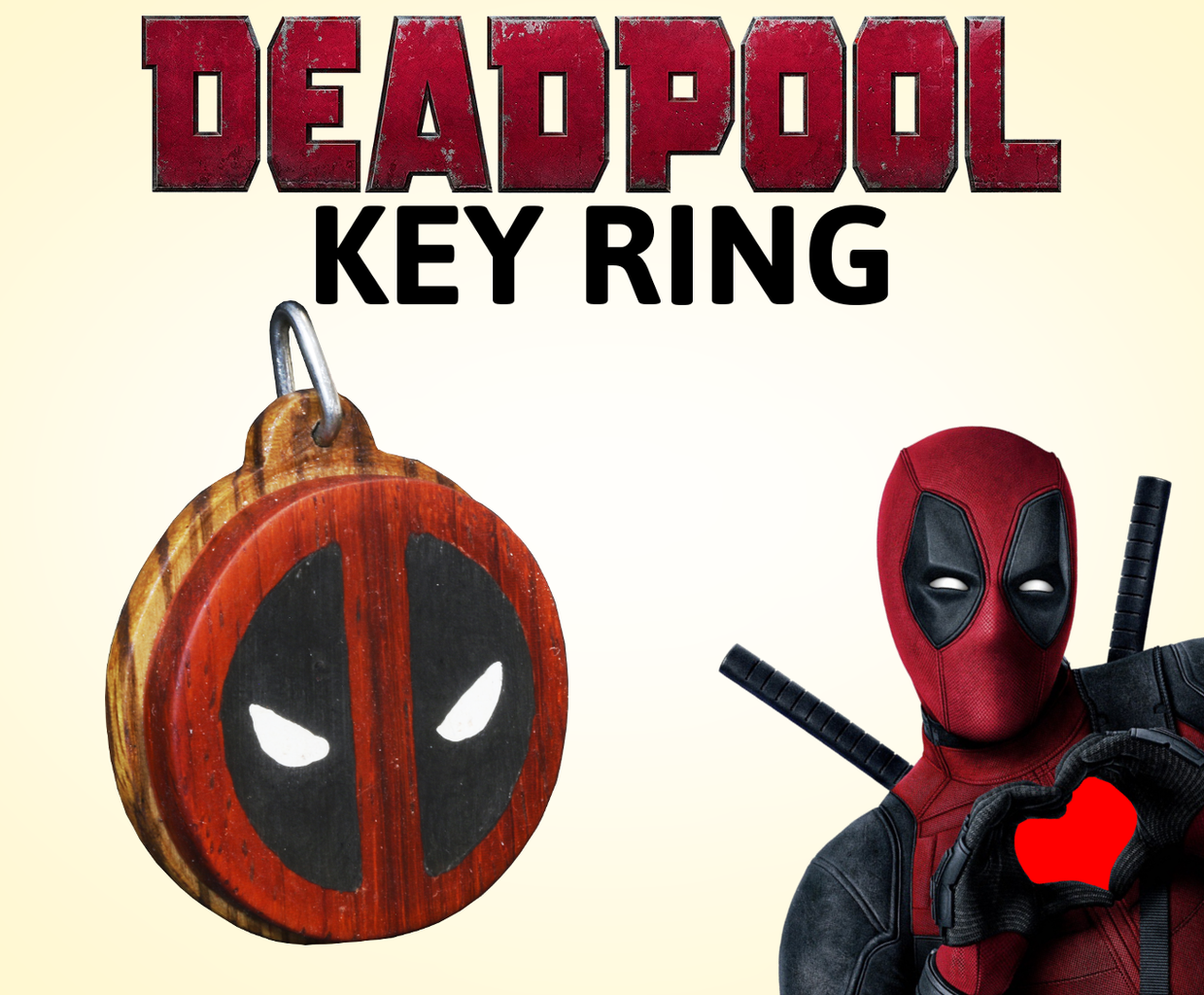 How to Make a Wooden Deadpool Key Ring