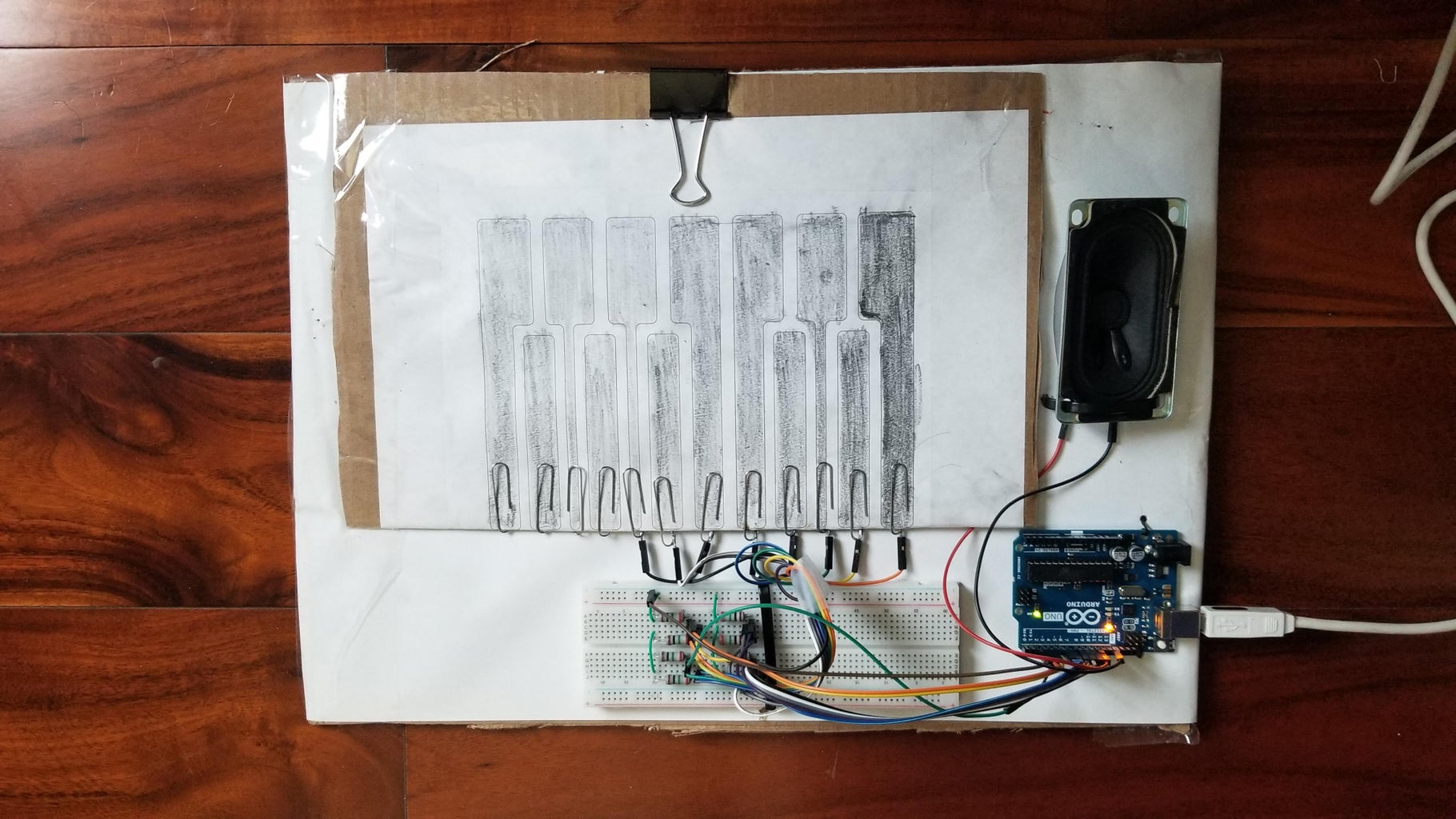 How to Make an Cheap Touch-Capacitive Piano