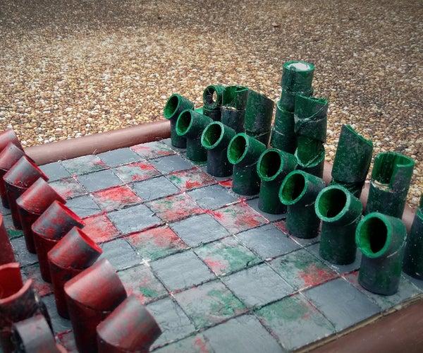 PVC Pipe Chess Set