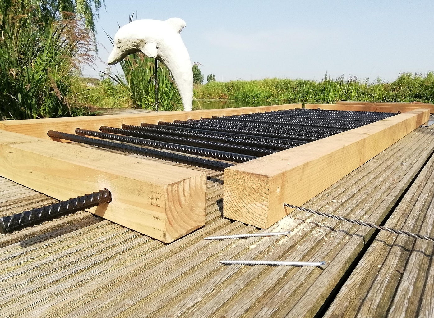 Drill Holes, Make Sure the Fence Is Square and Screw the Parts Together