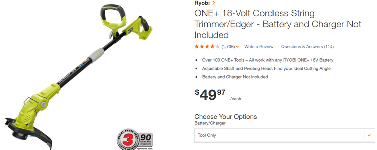 Reversible Direction DC Electric String Trimmer
