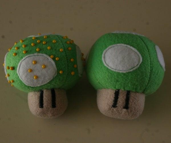 1-UP Mushroom Pincushion/plush