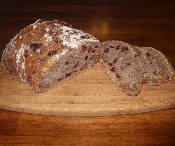 Walnut Craisin Bread - Easy to Make, Small Effort, Huge Reward