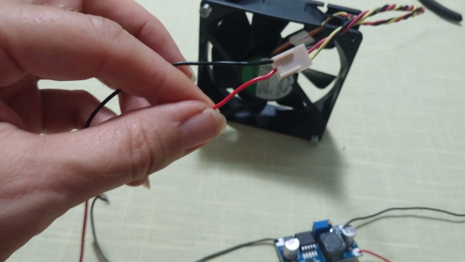 Attach Fan to Output Wires