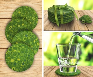 Turtle Shell Inspired Coasters