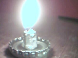 Metal, Oil Burning Candle