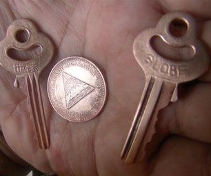 Copper Plating Brass Keys and Coins Without Electricity.