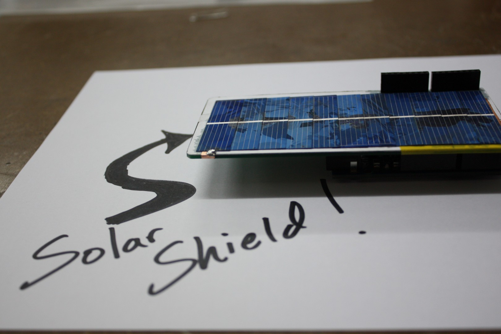 Arduino Solar Shield - A DIY solar source for your projects without waiting for PCBs
