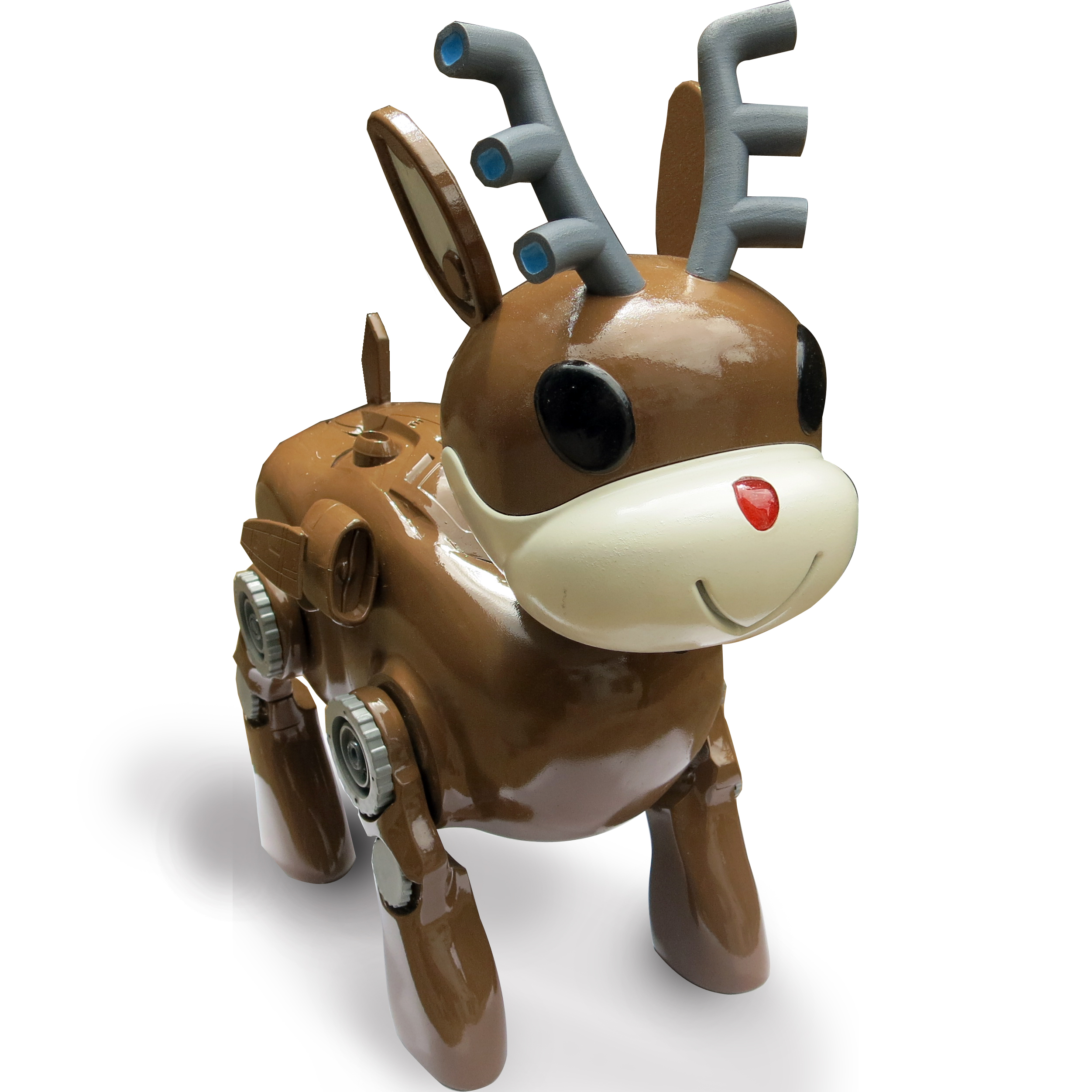 How to build a 3D-printed robot reindeer toy