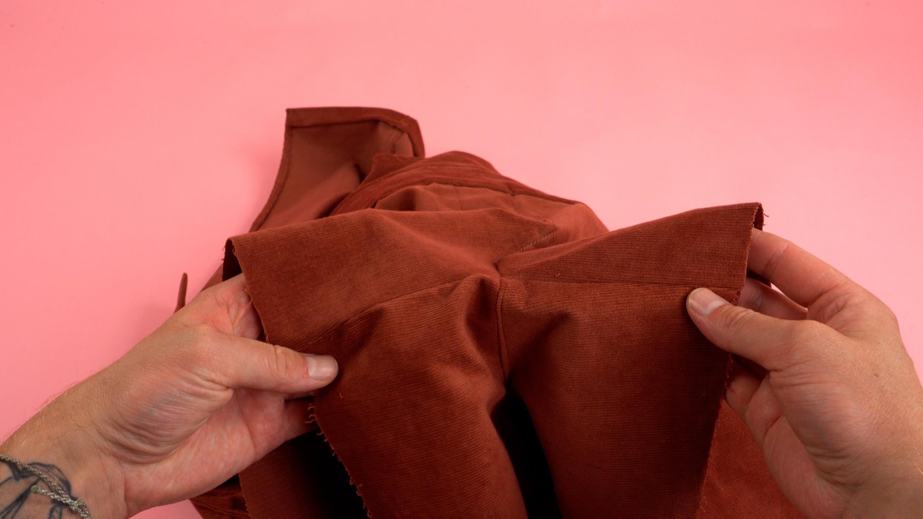 Topstitch Inside Pants Seam