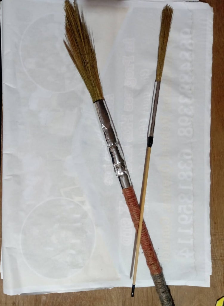 Painting Brush : Making an Additional Thin Brush, for Writing Purpose!