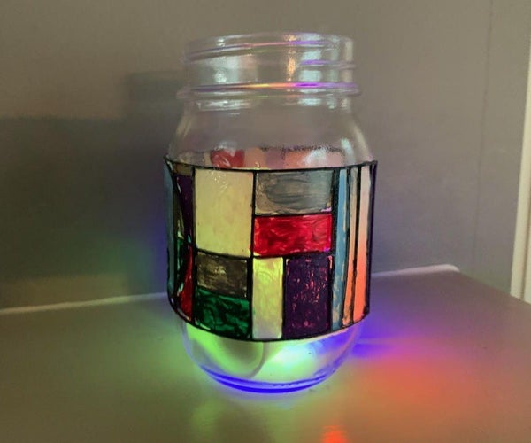 The Stained Glass Mason Jar