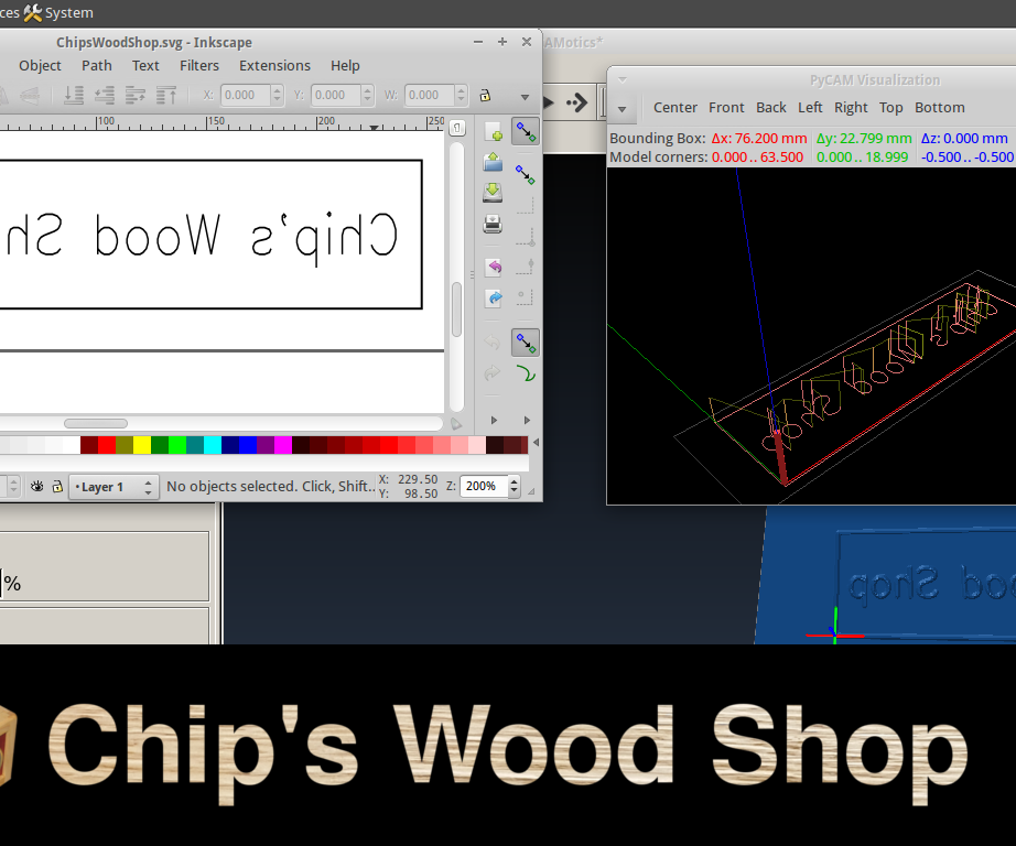 Simple Engraving with a CNC Router – Start-to-Finish with Open Source Software