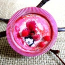 Pink Carnation Pixie Brooch