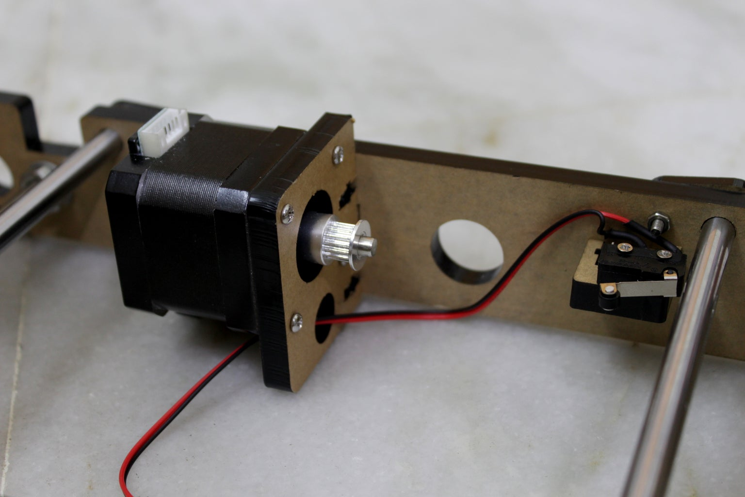 Y Axis Stepper Motor and Timing Belt