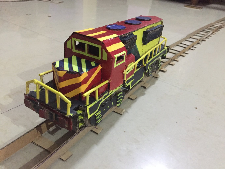 DIY Cardboard Train Engine