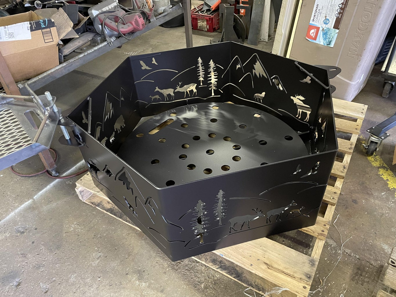 Hexagon Firepit - Coating and Final Assembly