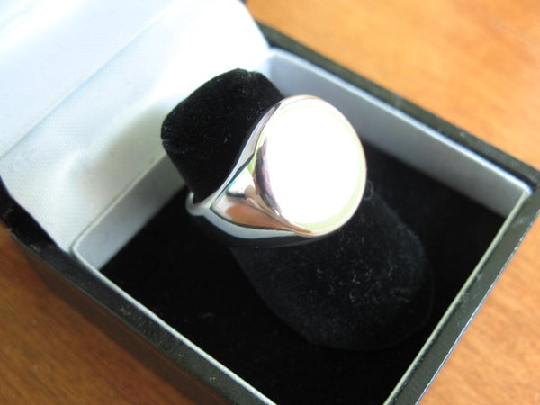 How to Cast and Polish a Pewter Signet Ring