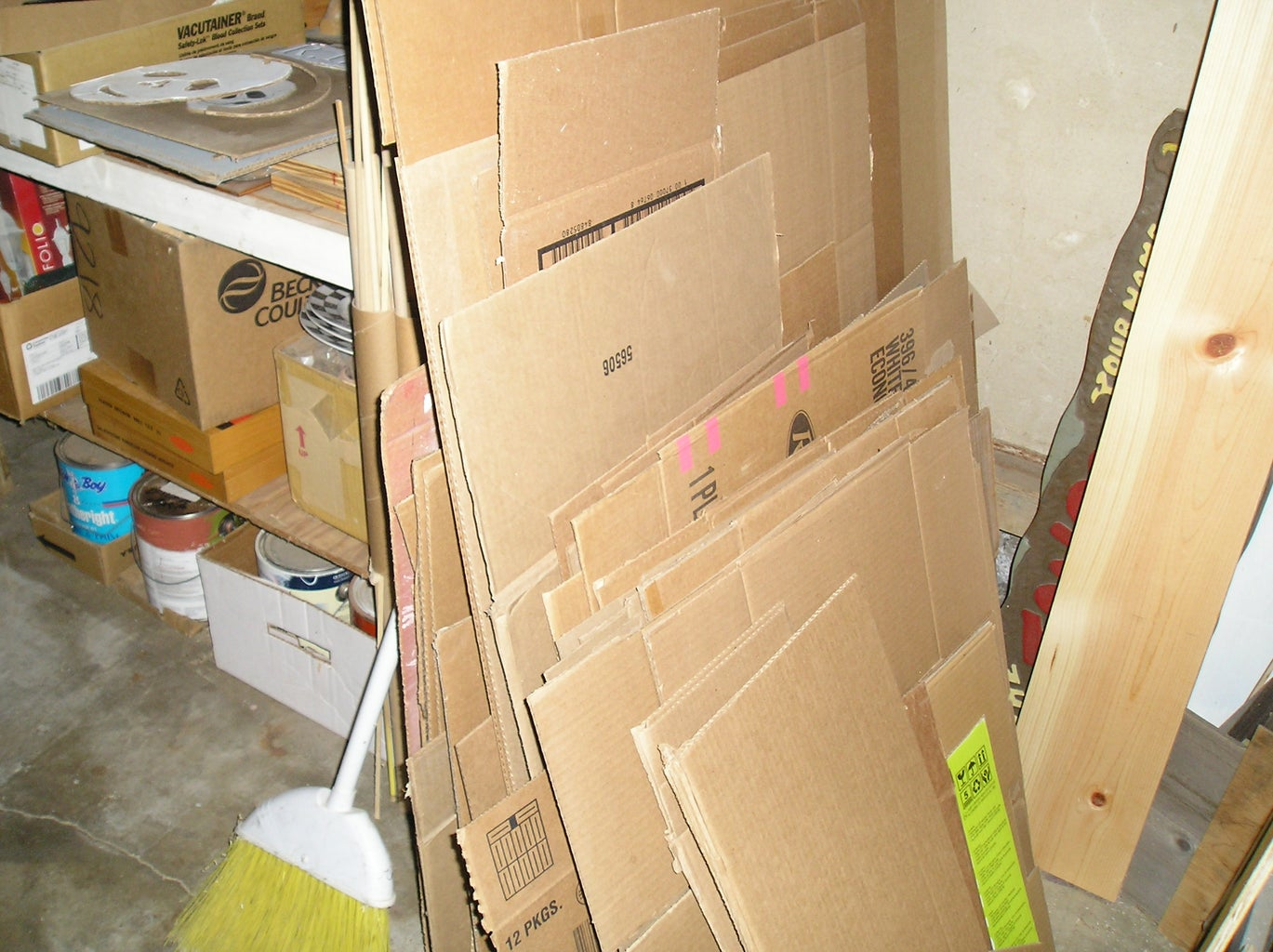Gather the Cardboard and Other Materials