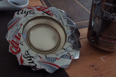 Recycle cans into nice trays