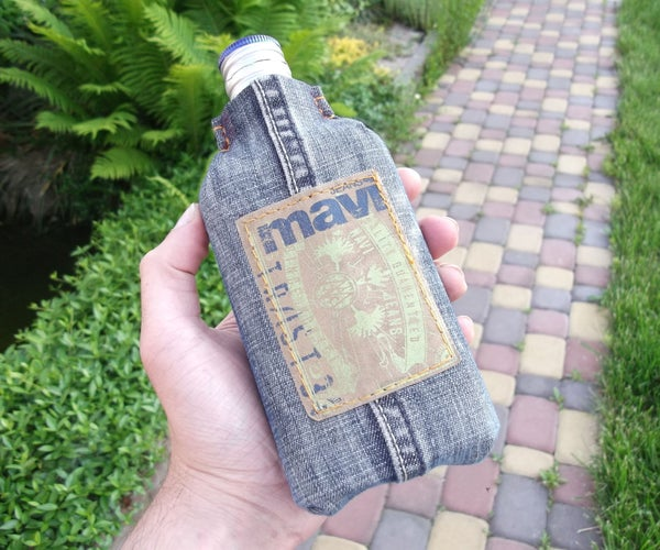 How to Make a Flask From Old Jeans and a Bottle