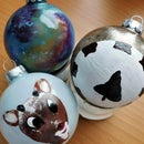 Hand-painted Glass Ornaments
