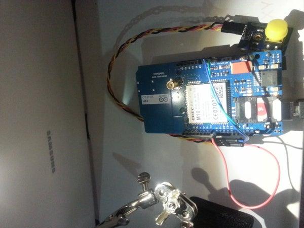 Sensor + Arduino +gsm Shield