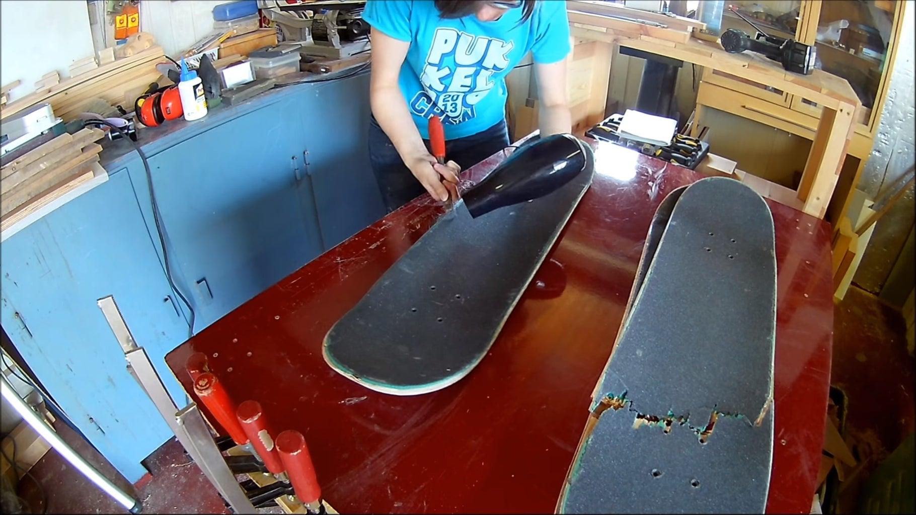 Preparing the Skateboards