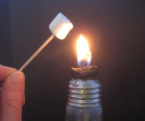 Recycled Light Bulb Lamp