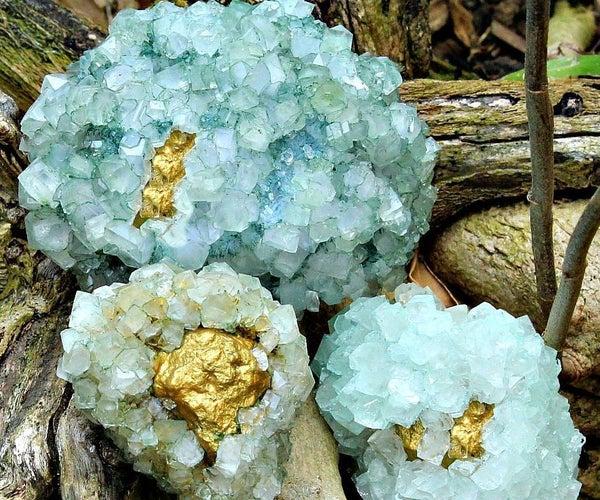 Golden (inside Out) Geodes