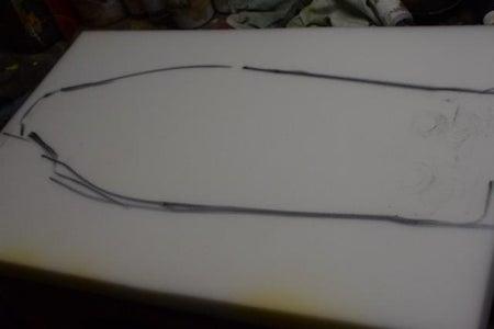 Measure and Cut Foam Pieces.