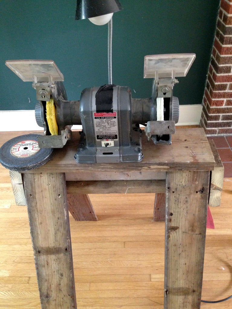 Attach Bench Grinder to the Stand