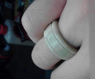 Faux Ivory Ring Carved From Bone