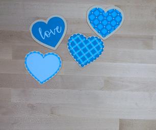Heart Shape Fold Card
