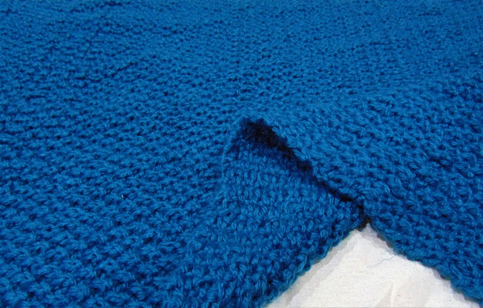 Knit Throw / Mini Leg Blanket
